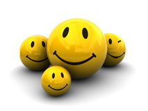 Smileys group Stock Photography