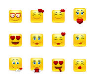 Smileys with hearts Royalty Free Stock Image