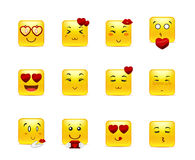 Smileys with hearts Stock Image
