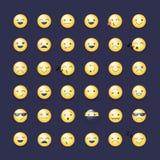 Smileys ikony wektorowy set Emoticons piktogramy Zdjęcie Royalty Free