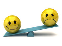 Smileys - imbalance Stock Photography