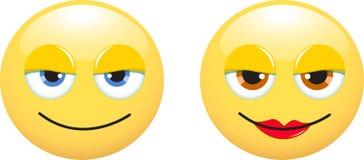 Smileys man and woman Stock Image
