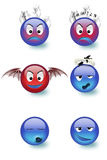 Smileys series 2. Smileys seeries in different attitudes royalty free illustration