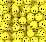 Smileys Show Happy Cheerful Faces Stock Images