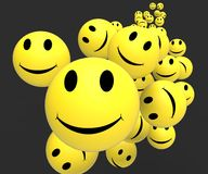 Smileys Showing Happy Positive Faces Royalty Free Stock Photos