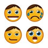 Smileys vastgestelde vector Stock Afbeelding