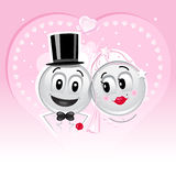 Smileys wedding Stock Image