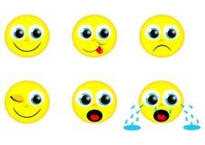 smileys yellow Στοκ Εικόνες