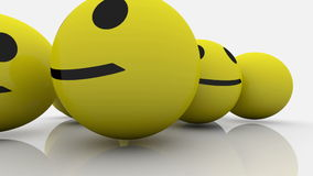 Smileys in yellow and blue color stock video