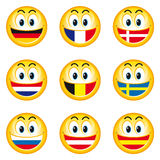 Smileys_flags_1 Stock Photos
