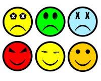 Smileyset Lizenzfreie Stockfotos
