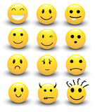 Smileysvectoren stock illustratie