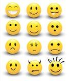 Smileysvektorer stock illustrationer