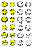 Smileyuppsättning stock illustrationer