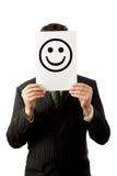 smilie бизнесмена Стоковая Фотография RF