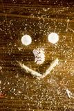 Smilie рождества сделанное с конусом шариков, веревочки и ели Стоковое Изображение RF