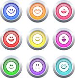 Smilie buttons Stock Photos