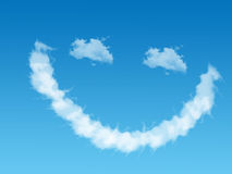 Smilie of cloud Stock Photos