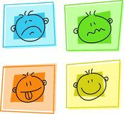 Smilie icons Stock Photography