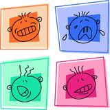 Smilie icons royalty free illustration