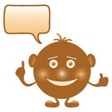 Smilie round brown Stock Photography