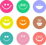 Smilie shapes Royalty Free Stock Images