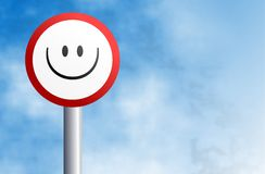 Smilie sign Royalty Free Stock Image