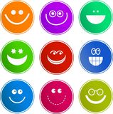 Smilie sign icons stock illustration