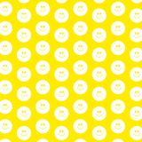 Smilie wallpaper. Decorative smilie face patterned wallpaper background design Royalty Free Stock Images