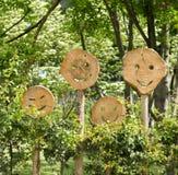 smilies деревянные Стоковая Фотография