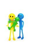 smilies семьи счастливые изолированные Стоковые Фото
