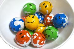 Smilies 2. Chocolate smilies in a tureen Royalty Free Stock Photo