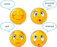 "Smilies ""A"" Stock Photos"