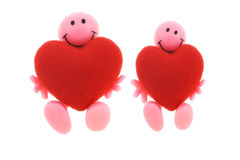 Smilies with big open hearts Royalty Free Stock Photography