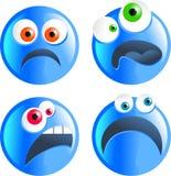 Smilies bleus illustration de vecteur