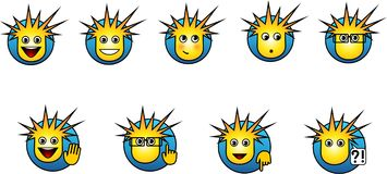 Smilies buttons. Preform buttons for website, icons for the desktop, etc Stock Photo