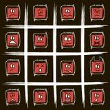Smilies carrés négatifs Image stock