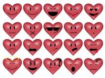 Smilies-corazón Foto de archivo libre de regalías
