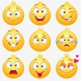 Smilies das emoções Imagem de Stock