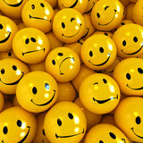 Smilies with different expressions Royalty Free Stock Photos