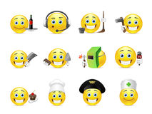 Smilies different professions Royalty Free Stock Images