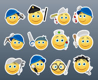 Smilies different professions Stock Photos