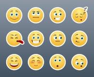 Smilies emocionales Imagen de archivo libre de regalías