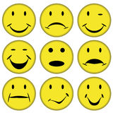 Smilies and faces. Illustration for the web Stock Photography