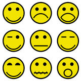 Smilies and faces. Illustration for the web Stock Photo