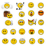 Smilies humorous royalty free stock photo