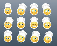 Smilies in the kitchen Stock Images