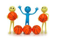 Smilies mit Basketbällen Lizenzfreie Stockfotografie
