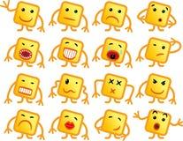 Smilies quadrados Imagens de Stock Royalty Free