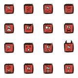 Smilies quadrados negativos Imagens de Stock Royalty Free